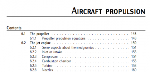 Chap 6 (Aircraft propulsion). Fundamentals of Aerospace Engineering