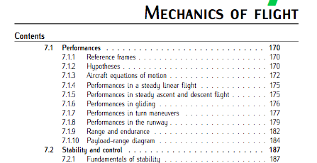 Chap 7 (Flight mechanics). Fundamentals of Aerospace Engineering