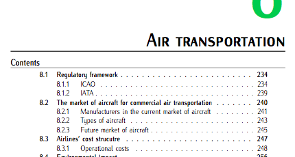 Chap 8 (Air Transportation). Fundamentals of Aerospace Engineering