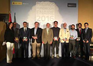Foto de familia premiados Fundación EnAire 2016